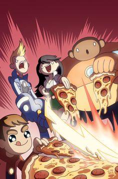Bravest Warriors + Pizza + Convention Exclusive = by *jasonhohoho on deviantART