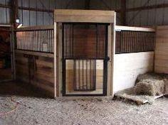 Corner horse stalls