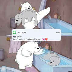 Ice Bear taking care of his (food)