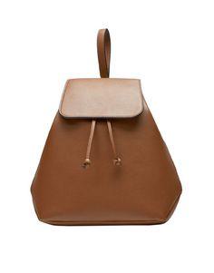 pullandbear brown backpack