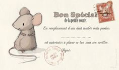 Le lapin dans la lune - Non dairy Diary - Bon pour dent perdue. Tooth Mouse, Dairy Diary, Diy For Kids, Crafts For Kids, Mouse Illustration, Tooth Fairy, Papers Co, Paper Toys, Diy Projects To Try