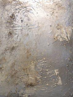 Mila Blau, Silver, mixed media on canvas, 2016 Mixed Media Canvas, Texture Painting, Surface, Silver, Paint, New Media Art, Money