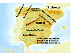 es  un mapa del relevo de España en gallego