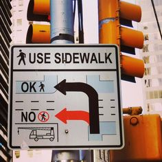#sidewalk #sign #traffic #Manhattan #NewYork #NYC #ajcphotography New York City Travel, Manhattan, Sidewalk, Nyc, Sign, New York Travel, New York City Trip, Side Walkway, Sidewalks