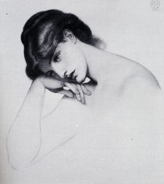 A chalk drawing by Dante Rossetti.  He was great.  Also, he really liked painting redheads.