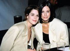 Pin for Later: The Most '90s-tastic Moments From the MTV Movie Awards Courteney Cox bonded with Neve Campbell.