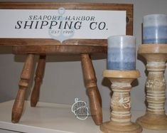 This faux framed sign has a light blue/grey anchor in the background and dark grey lettering, all on a white background. A sawtooth hanger can be added to the back. Simply click that option or leave a note to seller. Anchor Signs, Maker Shop, Hand Painted Signs, Wooden Signs, Diy Home Decor, I Shop, Etsy Seller, Place Card Holders, Dark Grey