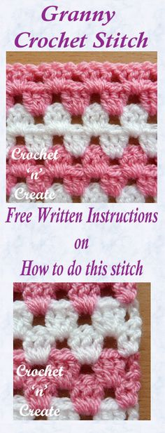 For Beginners Afghans Crochet Granny Stitch : Everyone's favourite stitch, use this good old simple granny stitch tutorial to make lots of crochet items. Crochet Stitches For Beginners, Crochet Stitches Patterns, Stitch Patterns, Beginner Crochet, Knitting Stitches, Crochet Gratis, Free Crochet, Sunburst Granny Square, Granny Squares
