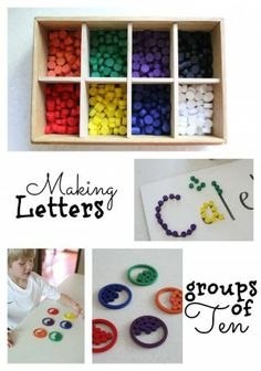 Making Letters & Groups of Ten with #Spielgaben