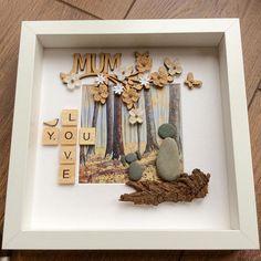 Pebble Art mum frame Mother's Day gift gift for mum
