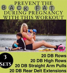 The best pregnancy exercises to work on the back fat.  Everything seems to grow during pregnancy but workouts like this will help tons to prevent excess weight gain. http://michellemariefit.publishpath.com/the-back-fat-pregnancy-workout