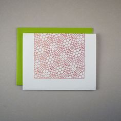 Gardient Grid Letterpress Card by Pressmade