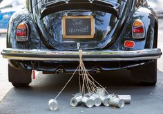 Vintage wedding car with just married sign and cans attached , Just Married Sign, Got Married, Getting Married, Married Couples, Wedding Costs, Wedding Car, Wedding Venues, Wedding Ideas, Wedding Bells