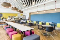 Fun and playful colors. Fun furniture. Hammerson – UK Headquarters Offices