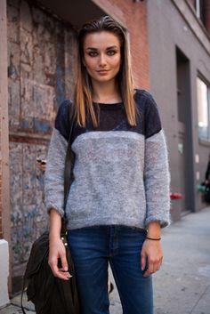 Andreea Diaconu + Isabel Marant Mati Sweater
