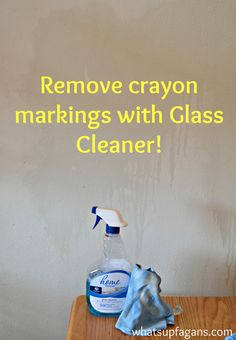 Remove crayon markings on walls with glass cleaner. How to Remove Crayon Marks from Walls. An awesome Pinterest experiment to see what is the best way to get crayon off walls. DIY cleaning tip hacks!