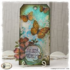 tammy tutterow: tag tutorial using Distress Paint http://tammytutterow.com/2013/04/tuesday-tutorial-the-good-will-always-out-number-the-bad/