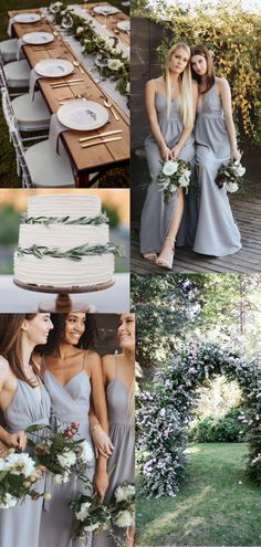 c957705c Lavender Grey Bridesmaid Dresses from Park & Fifth Co with details like  light grey napkins,