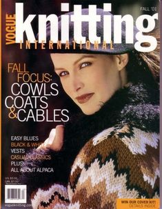 Vogue Knitting International Fall 2001 -page web incomplet Vogue Knitting, Knitting Books, Vintage Knitting, Crochet Book Cover, Crochet Books, Knitting Magazine, Crochet Magazine, Black And White Vests, Black White