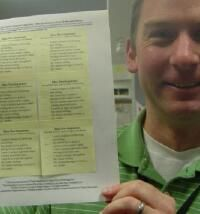 How to print a post it note checklist.