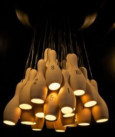 Um Bowling Pin Lights? Yeah That Is Awesome!