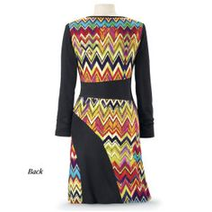 Zigzag Dress - BACK