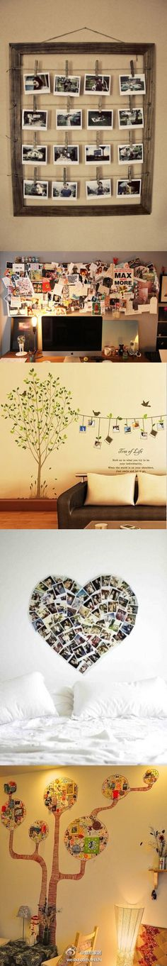 Creative photo walls