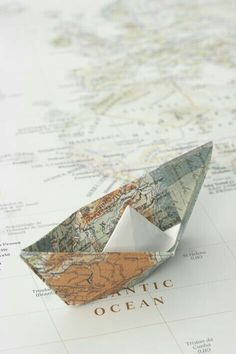 How to fold a map paper boat. Step-by-step photo and written tutorial. Foto Top, Map Globe, Travel Aesthetic, Gold Aesthetic, Adventure Is Out There, Belle Photo, Perth, Aesthetic Wallpapers, Paper Crafting