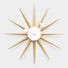 A reproduction of the original Mid-Century Sunburst Clock designed by George Nelson