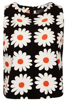 Daisy Print Shell Topshop