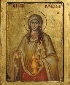Icon of St. Catholic Art, Catholic Saints, Patron Saints, Byzantine Icons, Byzantine Art, Religious Icons, Religious Art, Maria Magdalena, Noli Me Tangere