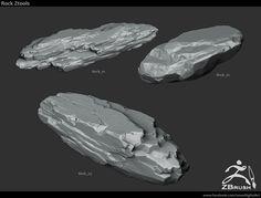 ArtStation - 18 Zbrush Sculpted Rock Brushes, Jonas Ronnegard