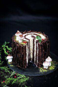 Noel Christmas, Christmas Treats, Easy Homemade Cookies, Delicious Desserts, Dessert Recipes, Log Cake, Sandwich Cake, My Dessert, Polish Recipes