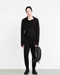 ZARA - MAN - SWEATER WITH WRAPAROUND COLLAR