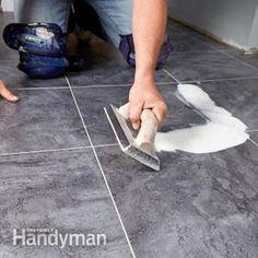 Luxury Vinyl Groutable Tile Installation A kinder, gentler tile