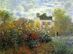 Клод Моне - The Garden of Monet at Argenteuil, 1873. Клод Оскар Моне