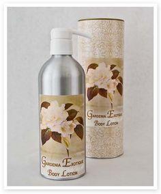 Gardenia Exotique 16 oz Aluminum Natural Body Lotion