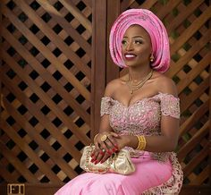 "11.4k Likes, 34 Comments - Africa's Top Wedding Website (@bellanaijaweddings) on Instagram: ""Pink Elegance Makeup: @makeupbyashabee Muse: @alexiss__xx Asooke: @knotty_knitters Photography: @…"""