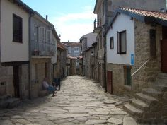One of the steep streets in the old town ALLARIZ