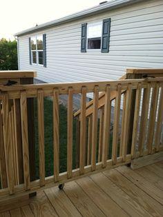 sliding gate for deck.