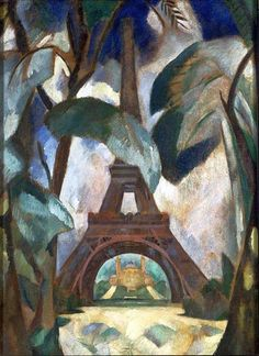 How to Pack for a Long Weekend (in Paris? Start with Art: Eiffel Tower by Robert Delaunay - The Vivienne Files Sonia Delaunay, Robert Delaunay, Georges Braque, Tour Eiffel, Art Parisien, Eiffel Tower Art, Philadelphia Museum Of Art, Paris Art, Art Moderne