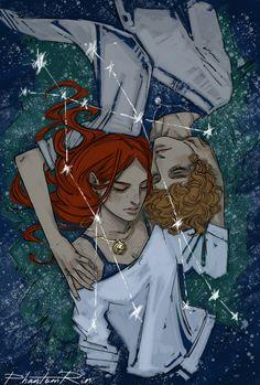 Jace and Clary Cassandra Jean, Cassandra Clare Books, Clace Fanart, Malec, Clary Et Jace, Jace Lightwood, Immortal Instruments, Fantasy Couples, Cassie Clare