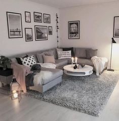 Wohnzimmer Wohnzimmer The post Wohnzimmer & Wohnung appeared first on Living room decor . Cozy Living Rooms, Living Room Grey, Home Living Room, Apartment Living, Living Room Designs, Apartment Entryway, Apartment Furniture, Living Room Ideas With Brown Carpet, Modern Apartment Decor