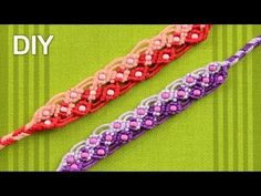 Two Color Macrame Bracelet with Beads / Tutorial - YouTube
