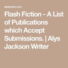 flash fiction examples