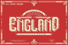 England + Poster vector from FontBundles.net in Font Collection Volume II
