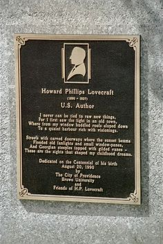 File:H. P. Lovecraft Memorial Plaque at 22 Prospect Street