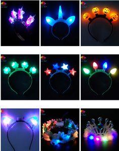 Led Headband Light up Flashing Hairband Neon Birthday, 18th Birthday Party, Sweet 16 Birthday, Glow In Dark Party, Glow Stick Party, Cute Birthday Ideas, Outdoor Party Games, Rainbow Activities, Blacklight Party