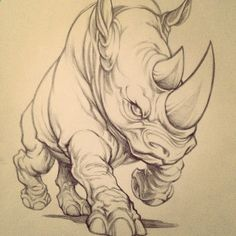 Original art from behind the scenes. What do you think? #rhino #ecko #art #design