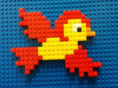 Bird mosaic Lego Math, Lego Craft, Lego Duplo, Creative Activities For Kids, Space Activities, Lego Mosaic, Lego Challenge, Lego Juniors, Lego Pictures